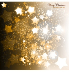 Elegant Christmas background with golden stars vector image vector image
