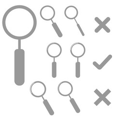 grey lens and marks icons vector image