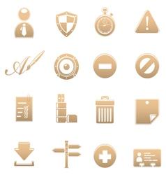 Icon set universal vector image vector image