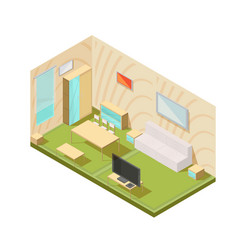 living room interior composition vector image vector image