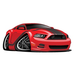 Red Muscle Car Cartoon vector image