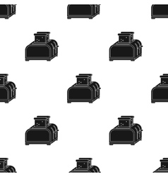Toaster icon in black style isolated on white vector