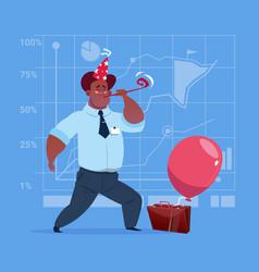 african american business man happy wear cap vector image