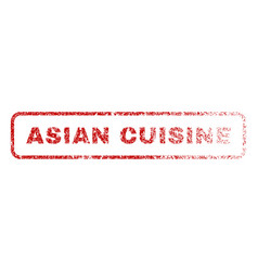 asian cuisine rubber stamp vector image