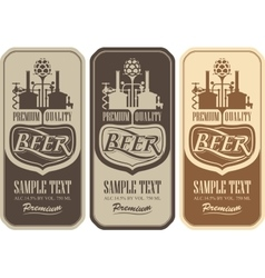 Beer labels with the brewery vector image vector image