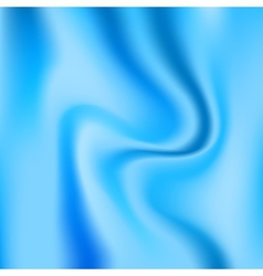 Blue glossy silk abstract background vector image
