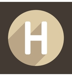 Letter H Logo Flat Icon Style vector image
