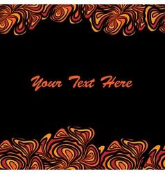orange black frame vector image vector image