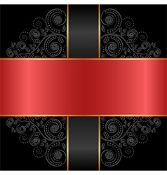 red black vector image