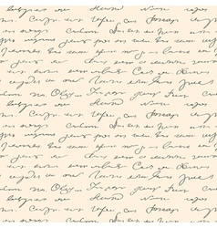 seamless handwritting pattern vector image