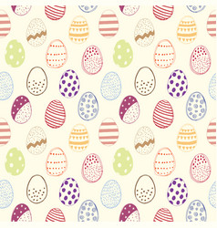 seamless pattern with easter eggs color vector image