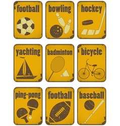 set of Sport separate Signs vector image