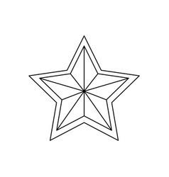star award symbol vector image