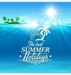 Summer holidays travel poster background vector image vector image