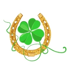 Clover and Horseshoe vector image vector image