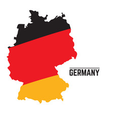 Flag and map of germany vector