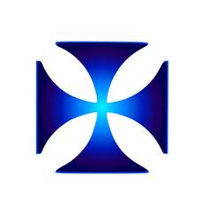 glowing symbol cross pattee christianity vector image