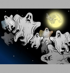 Halloween ghosts vector image vector image