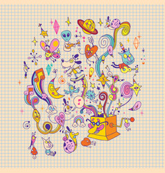 music box vector image vector image