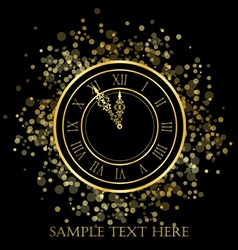 New year clock vector