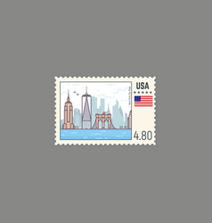 postage stamp of new york vector image vector image