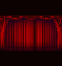 red theater curtain theater opera or cinema vector image vector image