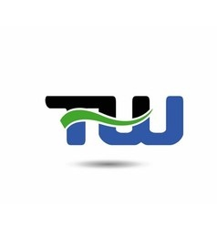 WT initial company group logo vector image vector image