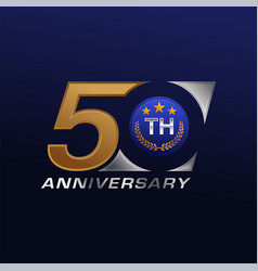 50 years anniversary celebration vector image
