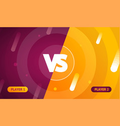 abstract color background with versus sign vector image