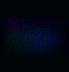abstract dark techno low poly space dots and lines vector image