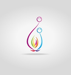 Abstract flame with faces vector