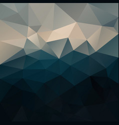 Abstract irregular polygon background blue beige vector