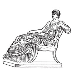 Agrippina vintage vector