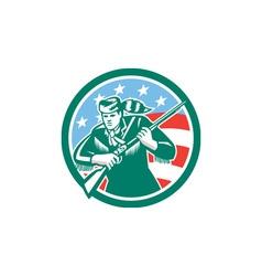 American Frontiersman Daniel Boone Circle Retro vector