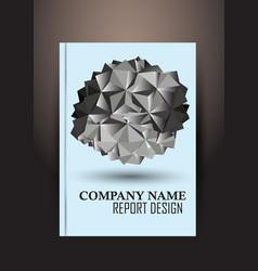 Annual report brochure flyer design template vector