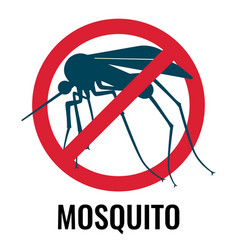 anti-mosquito label depicting fly in circle vector image