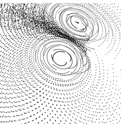 Array with particles abstract dynamic background vector