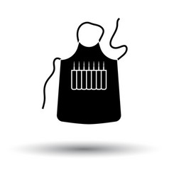 Artist apron icon vector