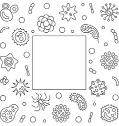 Bacterium microbiology frame with empty vector