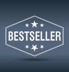 Bestseller hexagonal white vintage retro style vector