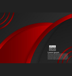 black and red color geometric abstract background vector image