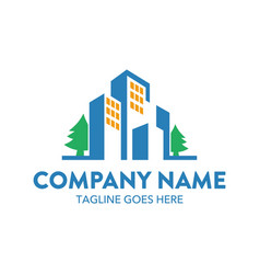 Building logo-3 vector