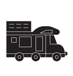 camping van black concept icon camping van vector image