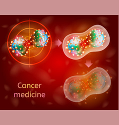 Cancer medical treatment realistic concept vector