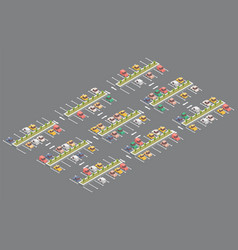 car parking isometric design vector image