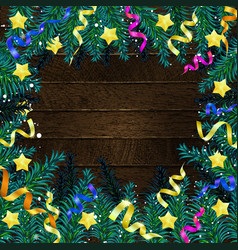 christmas 2019 fir tree with decoration vector image