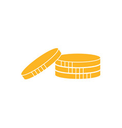 coins graphic icon design template vector image