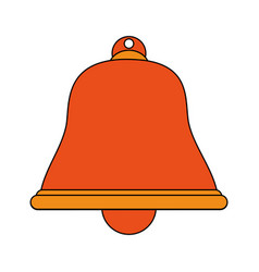 Color image cartoon bell icon design vector