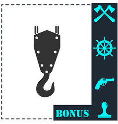 crane hook icon flat vector image