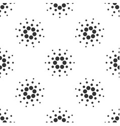 Cryptocurrency coin cardano ada seamless pattern vector